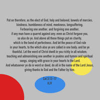 Col 3:12-17 KJV