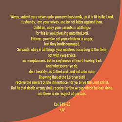 Col 3:18-25 KJV