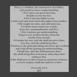 Proverbs 4:1-9 Kjv