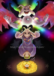 Asriel's true pacifist forms by Sonski96