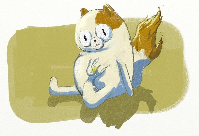 Yet another Fionna and Cake drawing by lookhappy