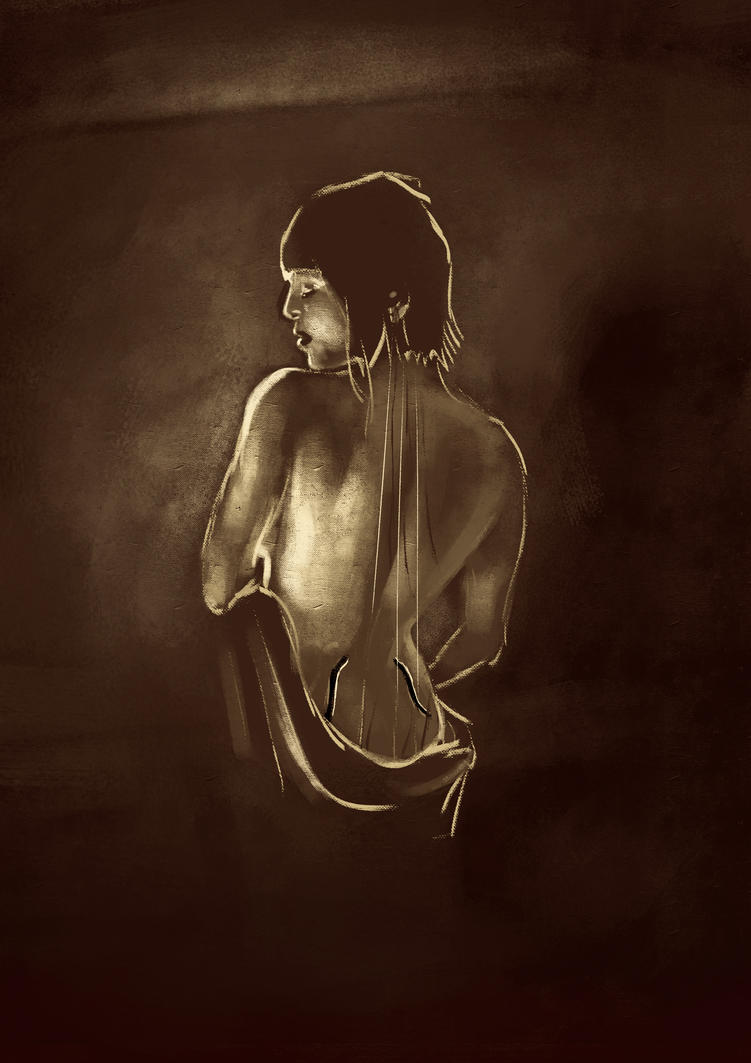 The Human Cello by lookhappy