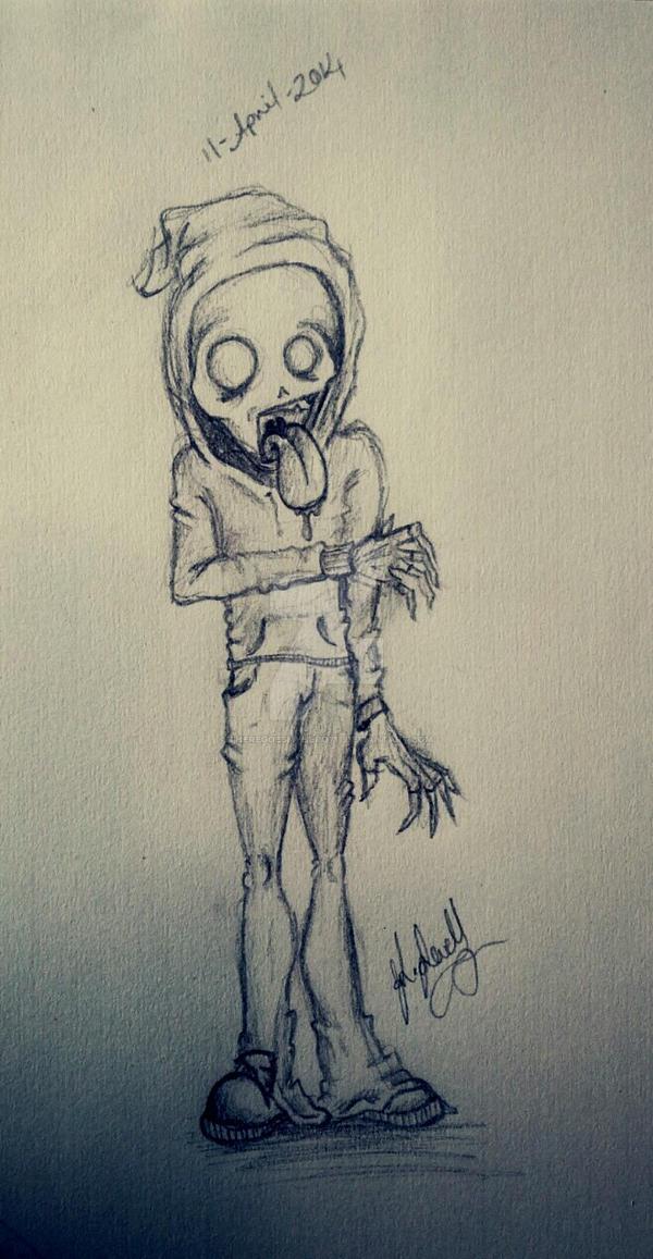 'Graffiti' zombie by ThereGoesMyHero711