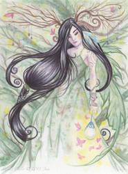 Wood Witch by OtherWorldsArt