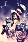 Moerser Girl with zombies by MAROK-ART