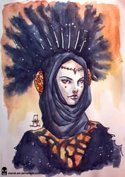 Sketch 055 Queen Amidala by MAROK-ART
