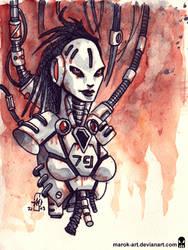 Sketch 079 Robotgirl