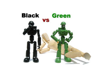 black vs green by DivineError