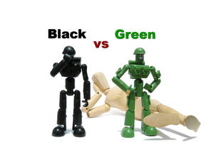 black vs green