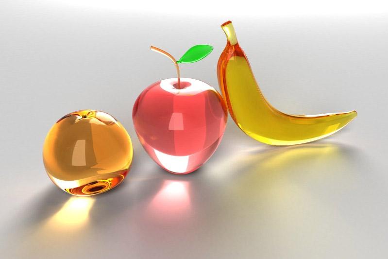 Orange Apple Banana PRINT by DivineError