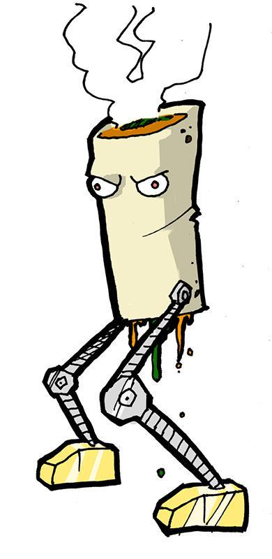 Evil Robot Burrito by DivineError