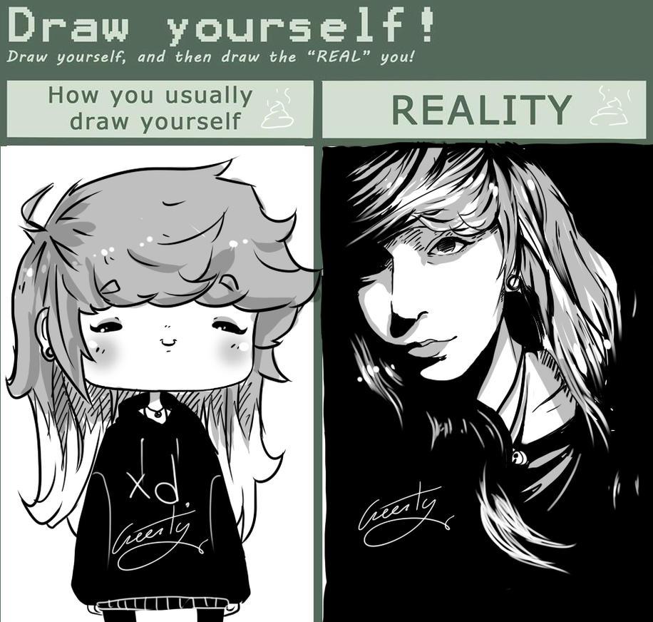 Draw yourself :MEME: by Greesty