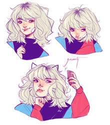 Emilia: Expressions by Greesty