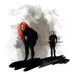 Black Widow and Hawkeye:  Team by nottonyharrison