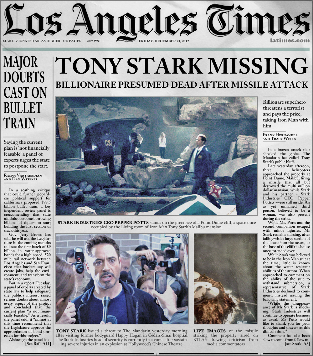 Los Angeles Times: Various MediAvengers Miscellany Part 1