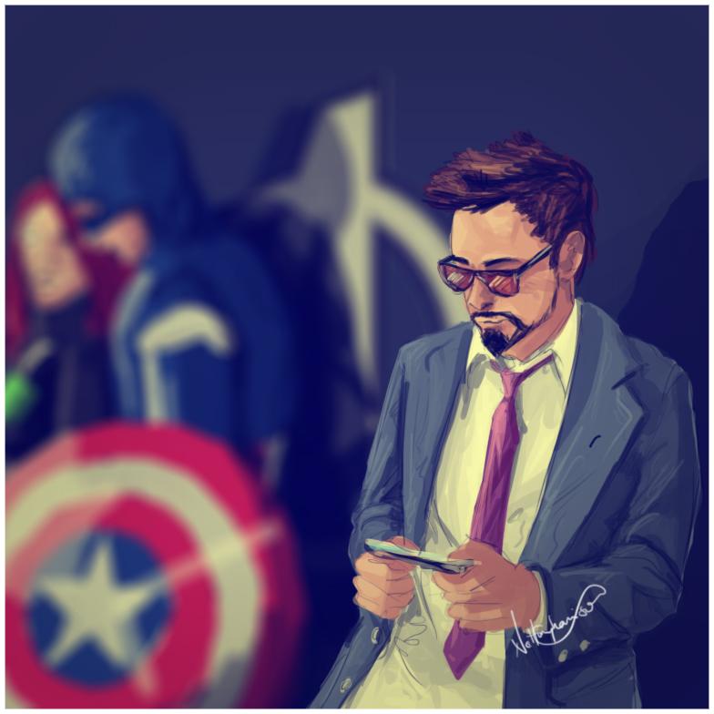 Tony Stark Candid by nottonyharrison