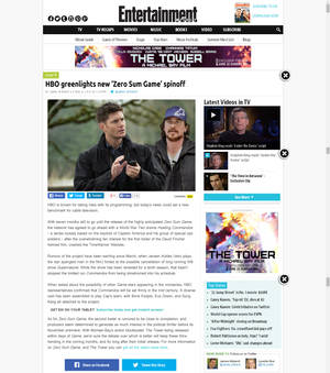Entertainment Weekly web news