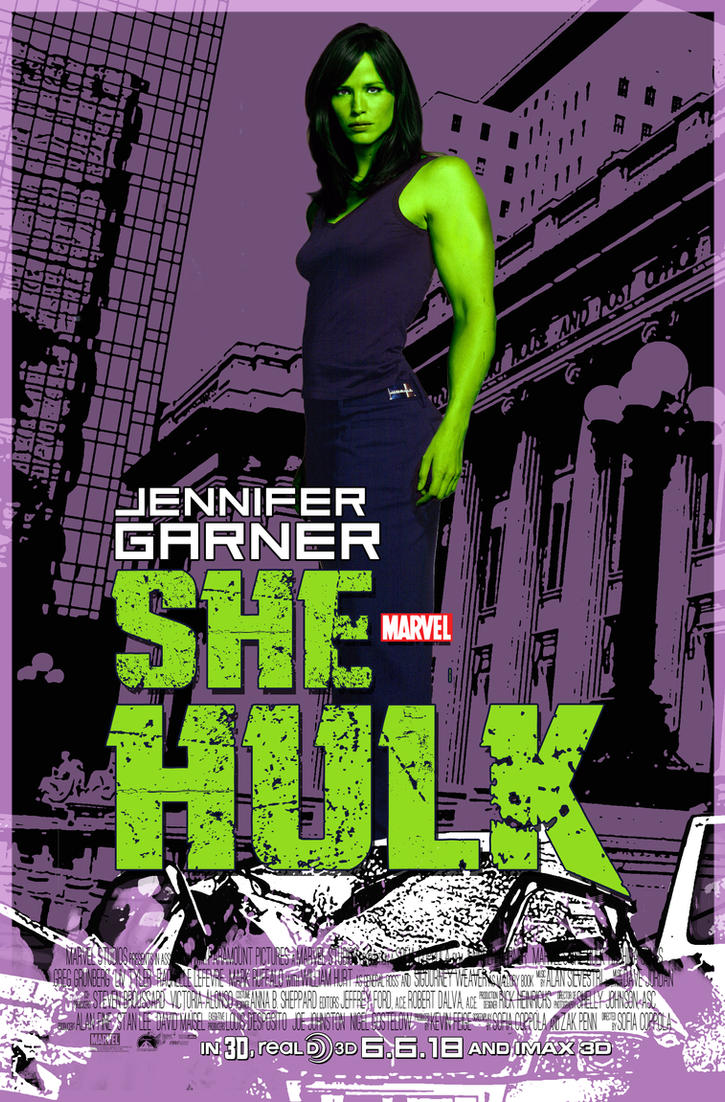 She-Hulk film poster by nottonyharrison