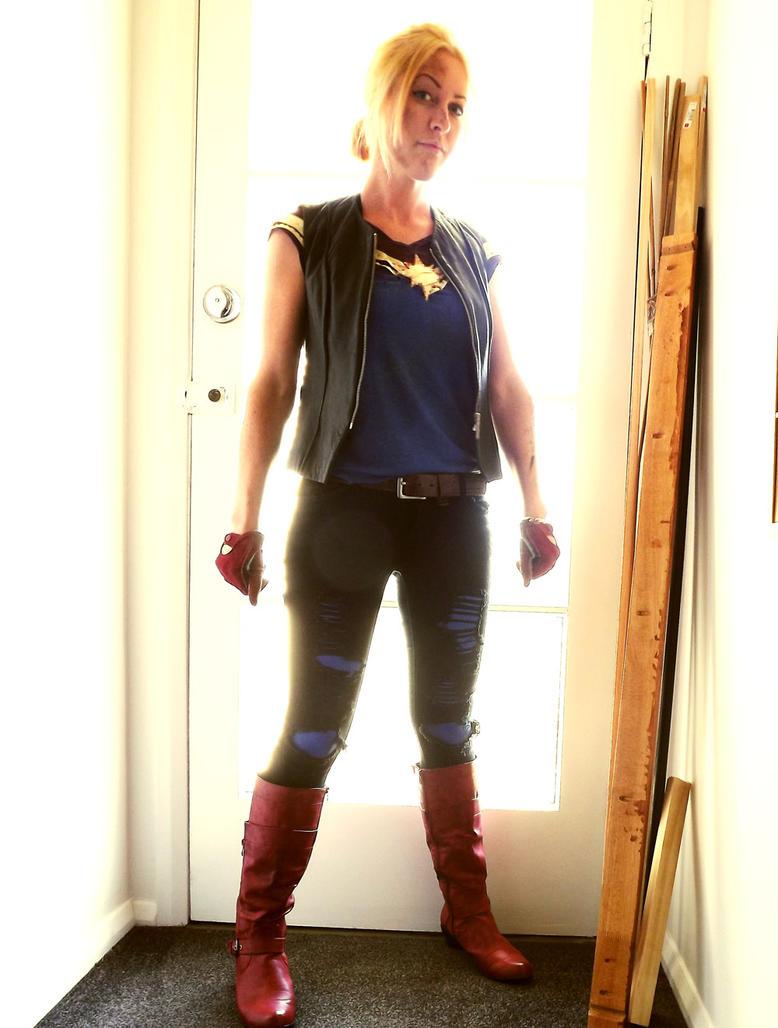 Zombie Apocalypse Captain Marvel cosplay by nottonyharrison