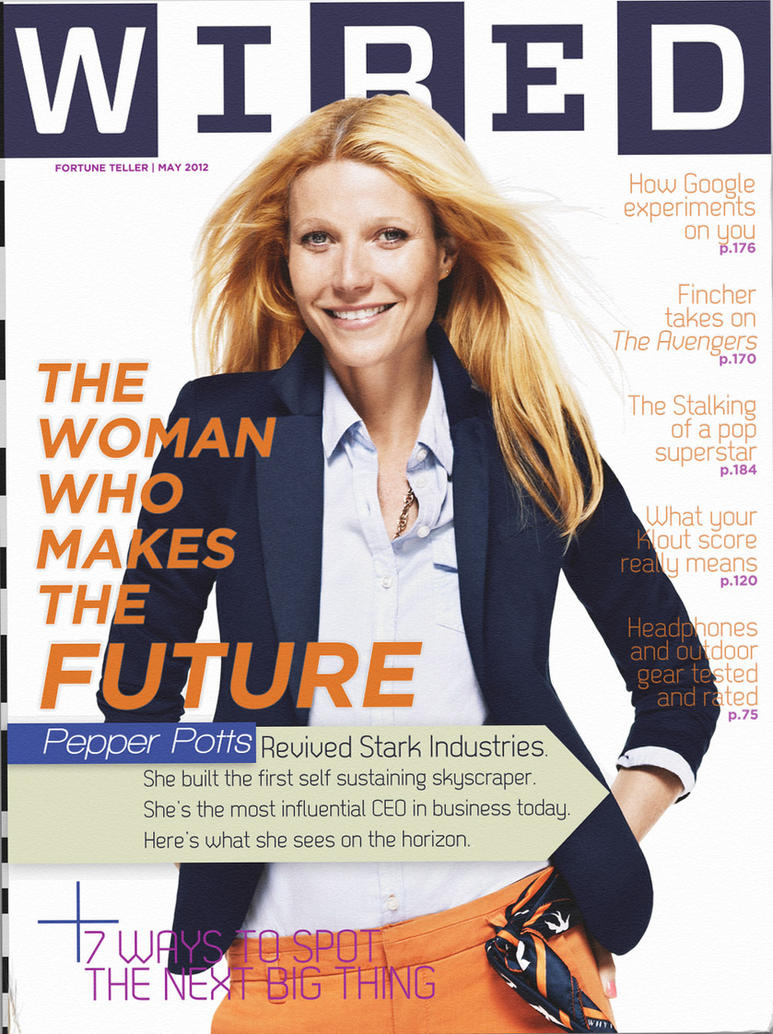 WIRED Magazine, May, 2012 Pepper Potts can do no by nottonyharrison ...