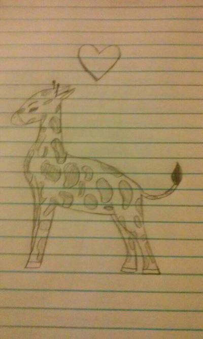 Lonely Giraffe. by Shimmering-Moon