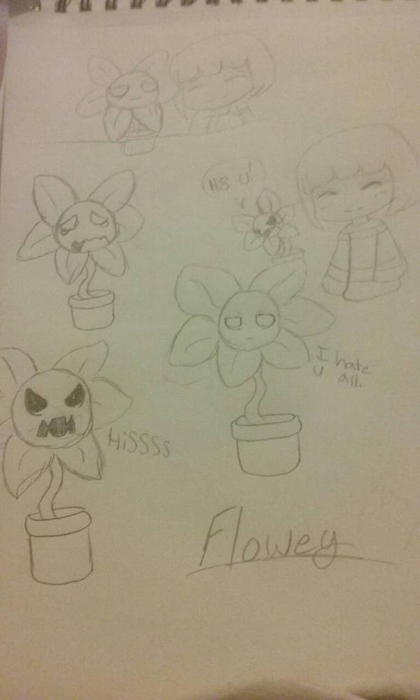 Potted Flowey by Shimmering-Moon
