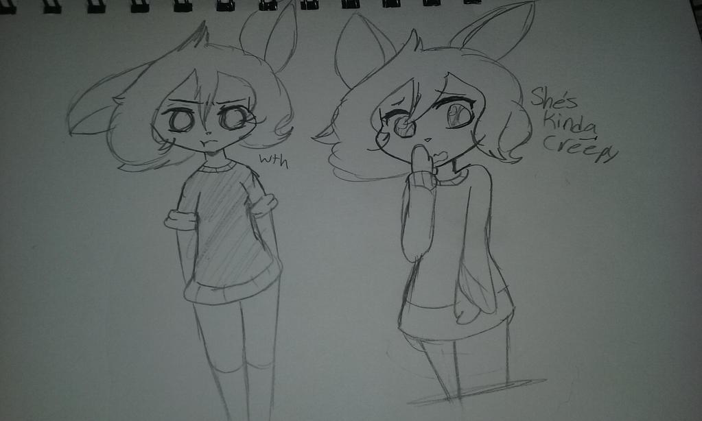 (Doodle) She's kinda creepy. by Shimmering-Moon