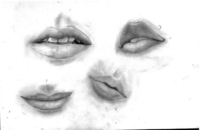 Sketches - lips by Dreamfollower...: piximggif.com/sad-lips-sketch