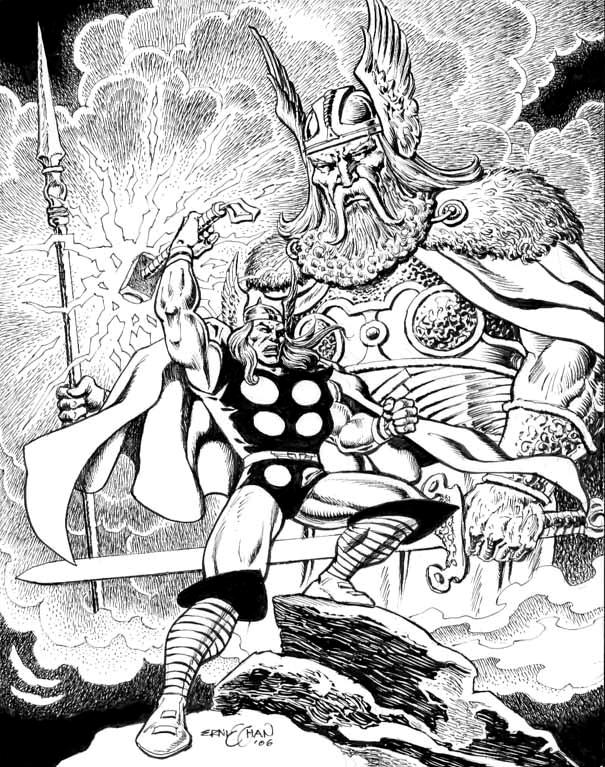 Part 14 / 9 - Page 2 Thor_and_Odin_by_Ernie_Chan_by_Club_Batman