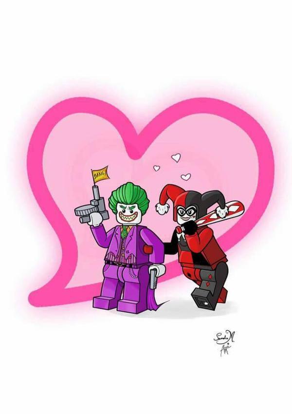 Joker And Harley Quinn Lego by Sandra Maria color  by Club-Batman