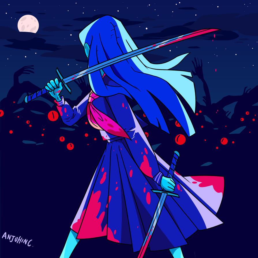 Iki - Samurai Schoolgirl by AnjohInc