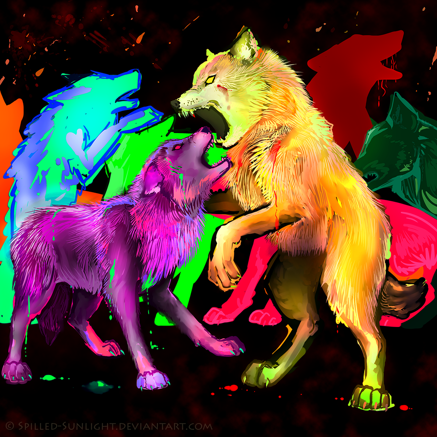 Discord Wolves by Spilled-Sunlight