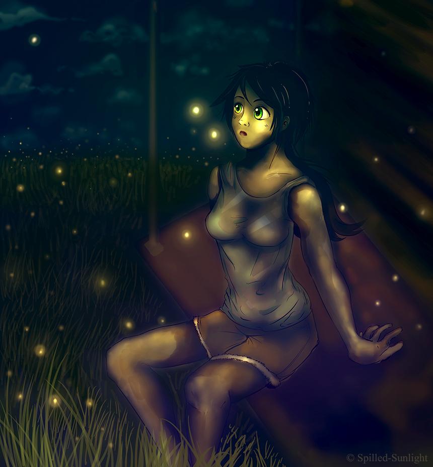 A Shade of Fireflies by Spilled-Sunlight