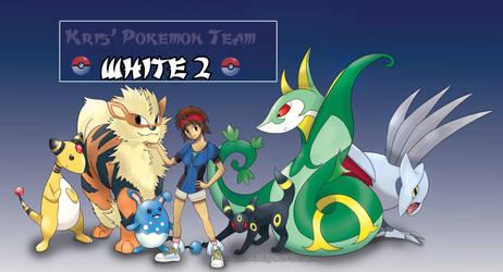 Pokemon White 2 Team by Spilled-Sunlight