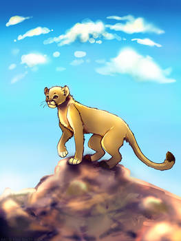 Mountain Lion Stylized Speed Paint