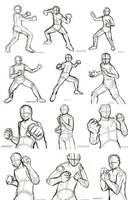 Practice 1 Rough Action Poses by AllysAO