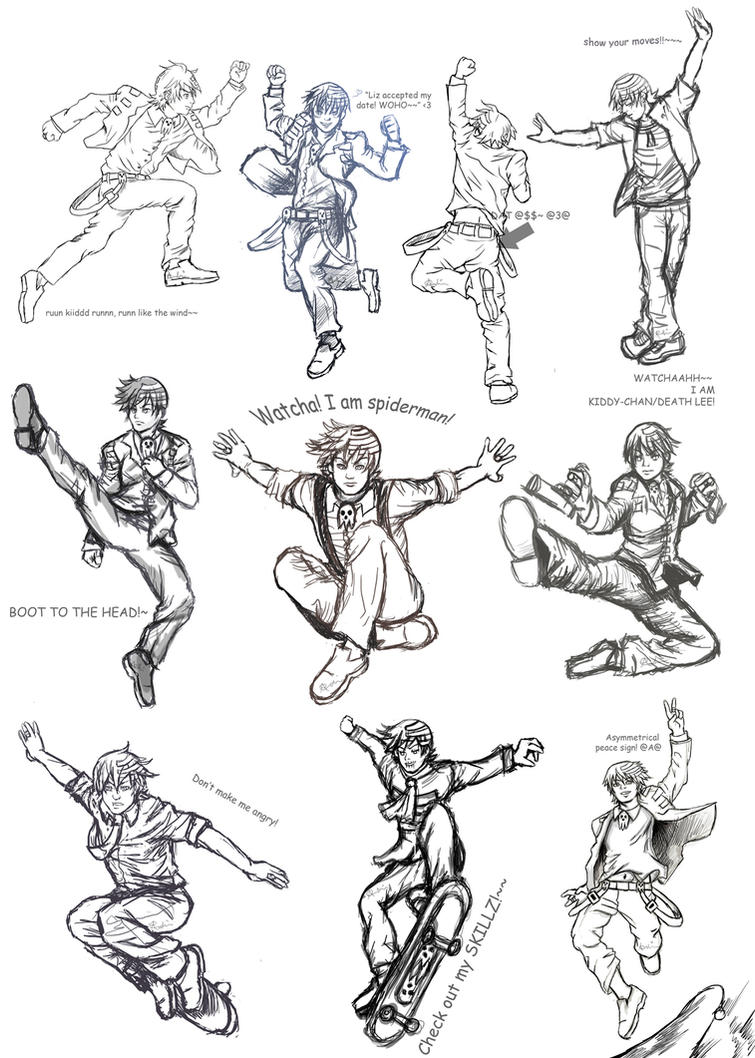 Dtk Poses Collage1 Sketches2 By Allysao Dtk Poses Collage1 Sketches2 By  Allysao On Deviantart How To