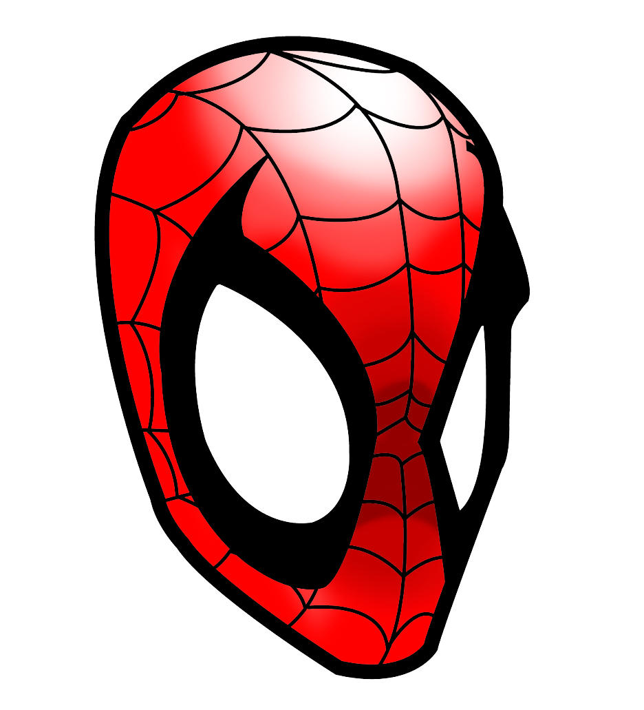 how to draw spiderman head