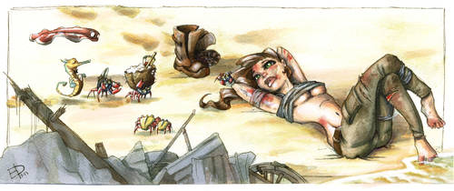 Tomb Raider Reborn Contest - Resting on the beach by EleDabi