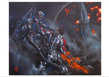 Shepard from Mass Effect by EleDabi