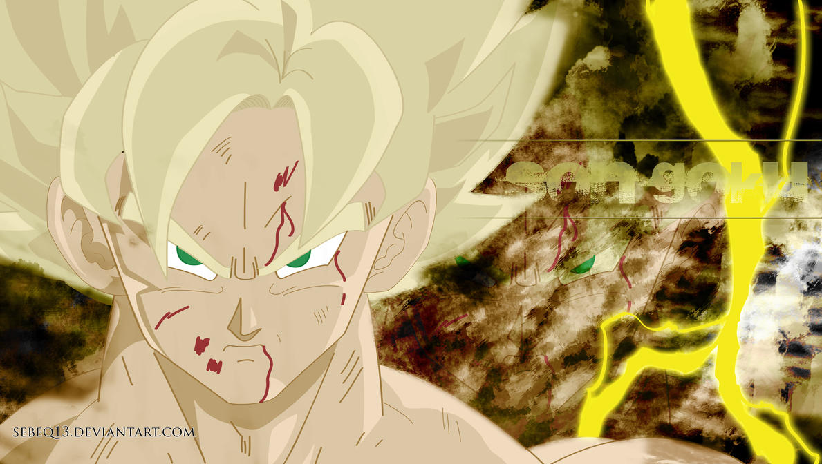 Goku super saiyan kamehameha wallpaper