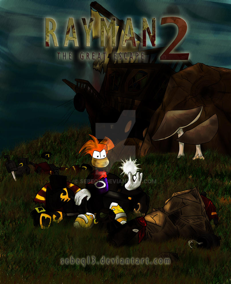 Rayman 2 The Great Escape Cover By Sebeq13 On Deviantart