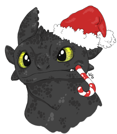 a toothless christmas by white sight - How To Train Your Dragon Christmas