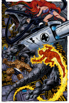Fantastic Four vs. Dragon Man (John Byrne)