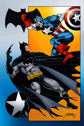 Captain America vs. Batman (George Perez)