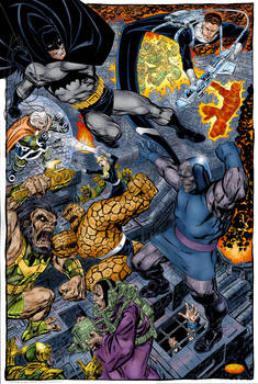Fantastic Four-Batman vs. Darkseid (John Byrne)