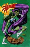 She-Hulk vs. Super Skrull (John Byrne)