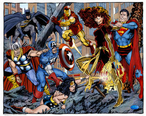 Avengers, JLA vs. Dark Phoenix (John Byrne)
