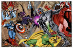 Avengers vs. Ultron Mansion Battle (John Byrne)