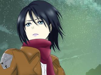 Shingeki no Kyojin - Mikasa Ackerman by NikitaDiane
